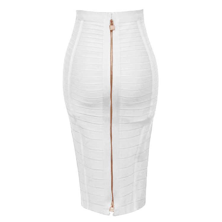12 צבעים סקסי מוצק רוכסן כתום כחול שחור תחבושת חצאית נשים אלסטי Bodycon קיץ בתוספת גודל XL XXL עיפרון חצאיות 58cm