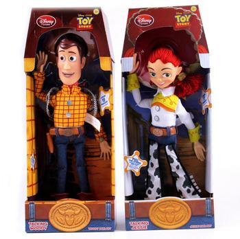 Anime Toy Story 3 Berbicara Jessie Woody PVC Tindakan Mainan Angka Model Mainan Anak Hadiah Natal Koleksi Boneka Gratis Pengiriman
