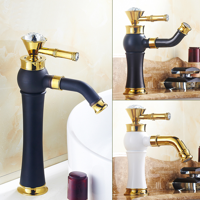 Single hole water tap kitchen sink faucet black, Art bathroom rotate basin faucet mixer white, Copper basin faucet gold antique swanstone dual mount composite 33x22x10 1 hole single bowl kitchen sink in tahiti ivory tahiti ivory