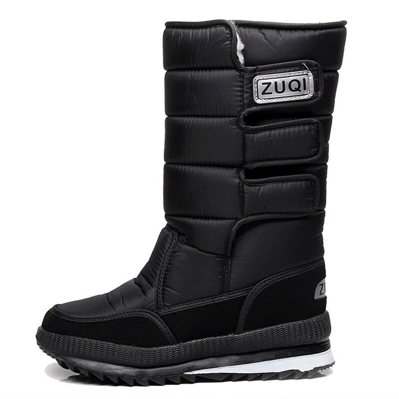2019 Men Boots platform snow boots for men thick plush waterproof slip-resistant winter shoes Plus size 34 - 47 2