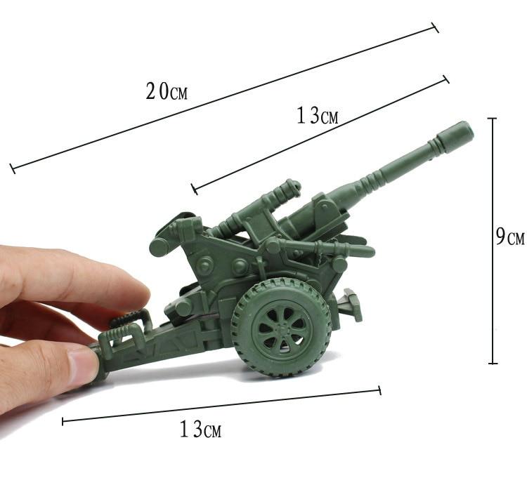Perang dunia ii model mainan militer, Model statis militer, howitzer pipa tunggal / mengejar meriam, model tabel pasir