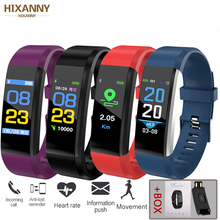 Smart Bracelet Heart Rate Monitor Blood Pressure Fitness Watches Step Counter Message Push pk fitbits mi Band 2019