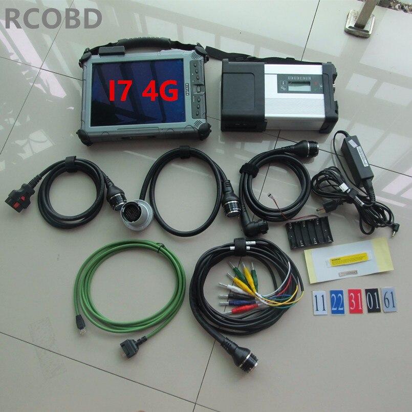 Super mb star c5 avec ssd 2018.12 date logiciel d'ordinateur portable xplore ix104 c5 tablet pc i7 4g outil de diagnostic prêt à utiliser 12 v 24 v