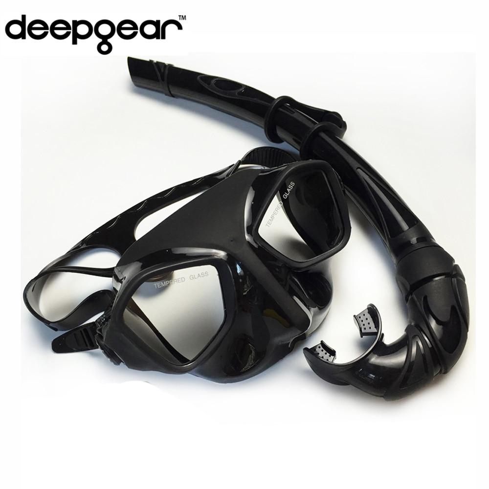 Frameless dive mask M snorkel set -snorkeling gear diving equipment