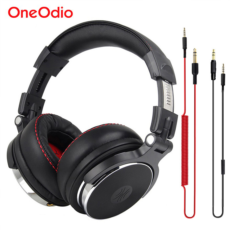 Oneodio DJ Studio Headphone For Computer Over Ear Stereo Monitor DJ Headphones With Microphone Earphone For Xiaomi Phone Headset 6 colour luminous headphone glow earphone night light glowing headset stereo sport headphones with microphone for iphone xiaomi