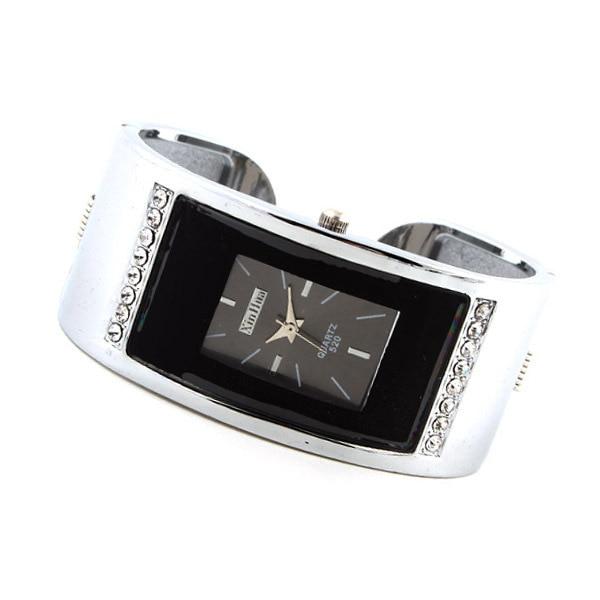 Aliexpress explosion H South Korea Fashion Square color Diamond Ladies Watch Bra