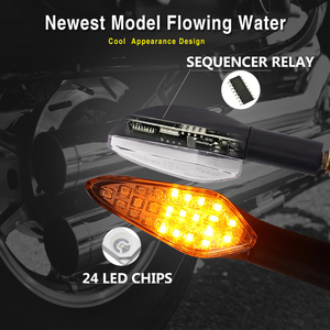 Image 5 - 4PCS Motorcycle Turn Signals Light E4Built in Relay Flowing Water Flashing Light 20LED Motorcycle Blinker Waterproof Tail Signal
