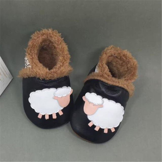Keep Warm Baby Winter Shoes Plus Velvet Soft Genuine Leather Baby Boy Shoes Toddler Moccasins chaussure garcon sapatos infantil