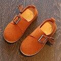 2017 Новый Корея Стиль Пряжка Leather Shoes For Kids Фантазии Малыша девушки Квартиры Slip On Младенческой Девушка Ходок Shoes Ребенок Casual Shoes