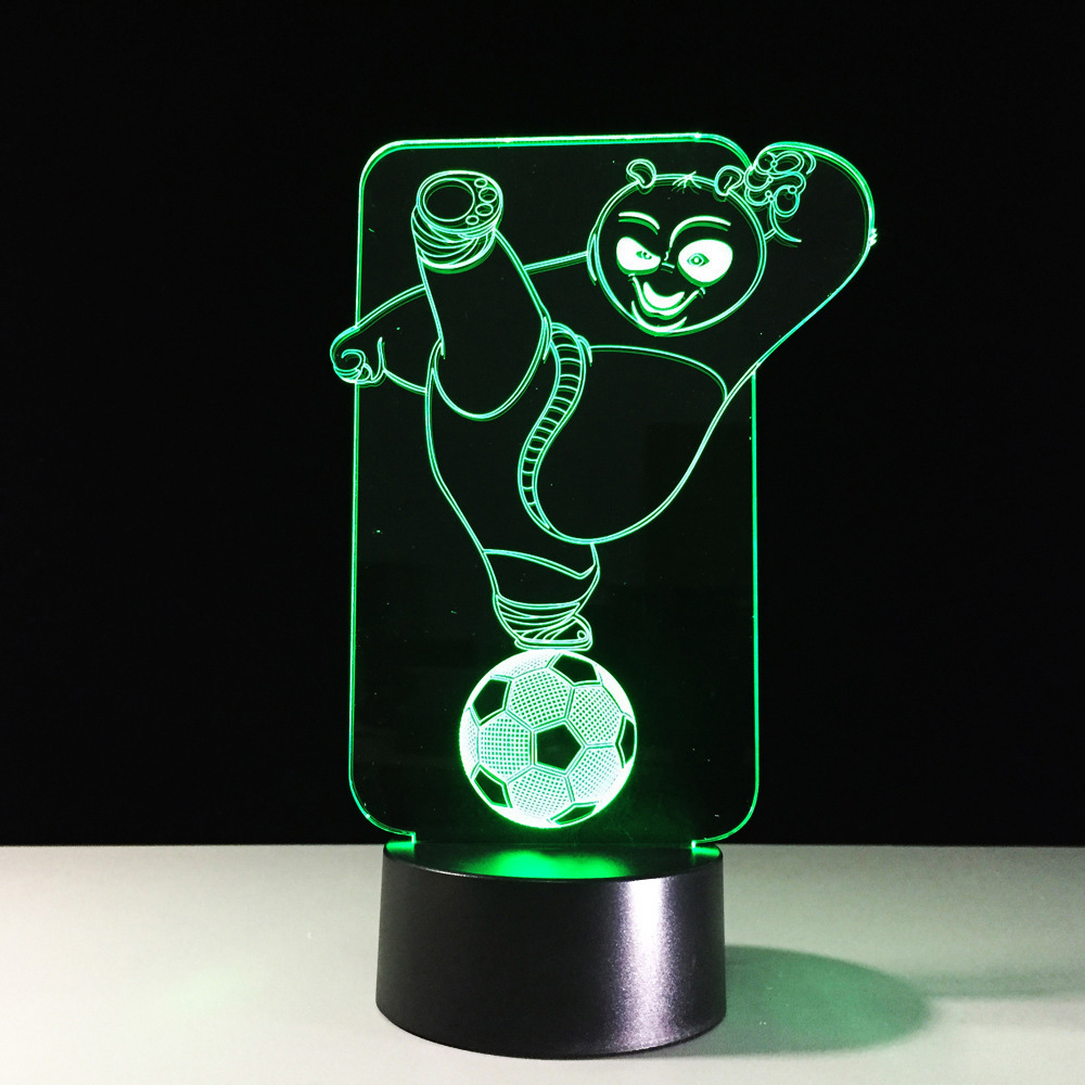Led Table Lamps Lights & Lighting Adaptable Love Bear Creative 3d Table Lamps Seven Color Touch Charging Led Stereo Desk Lamp Gift Table Moderne 3d Visual Night Light