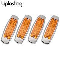 Liplasting 4pcs 12 LEDs Heavy Truck Side Lamp Stop Rear Tail Reverse Light Side Marker Indicator