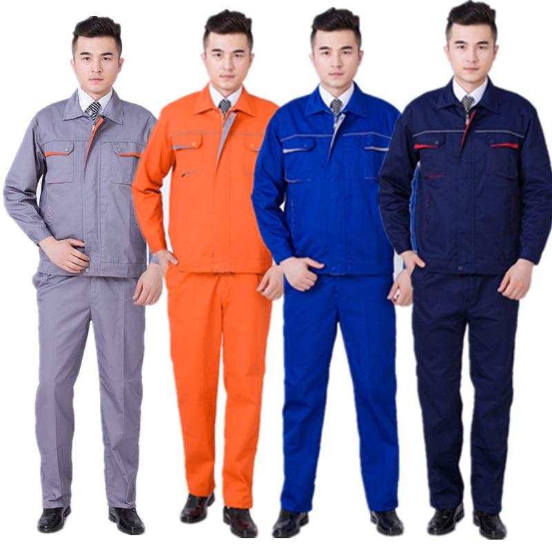 Worker Clothing Workwear Clothes Set Male/female Workmen Factory Uniform Wear-resistant Repairman Auto Car Workshop Work Clothes