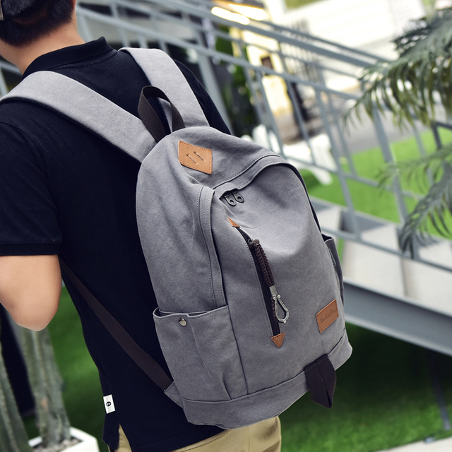 Free Ship Luggage & Bags Women Men Canvas Backpack Schoolbags for girl Boy Teenagers Casual Travel Laptop Bags Rucksack mochila