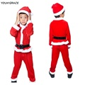 2016 New Boys 4PCS Christmas Santa Claus Suit Brand Top Quality Boys Christmas Costume Suit Kids New Year Clothing Set, YC122