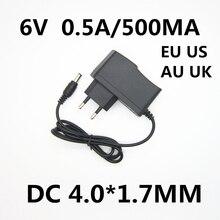 1 шт 6V 0.5A 500MA Источник питания переменного/постоянного тока адаптер зарядного устройства для OMRON I-C10 M4-I M2 M3 M5-I M7 M10 M6 M6W прибор для измерения артериального давления