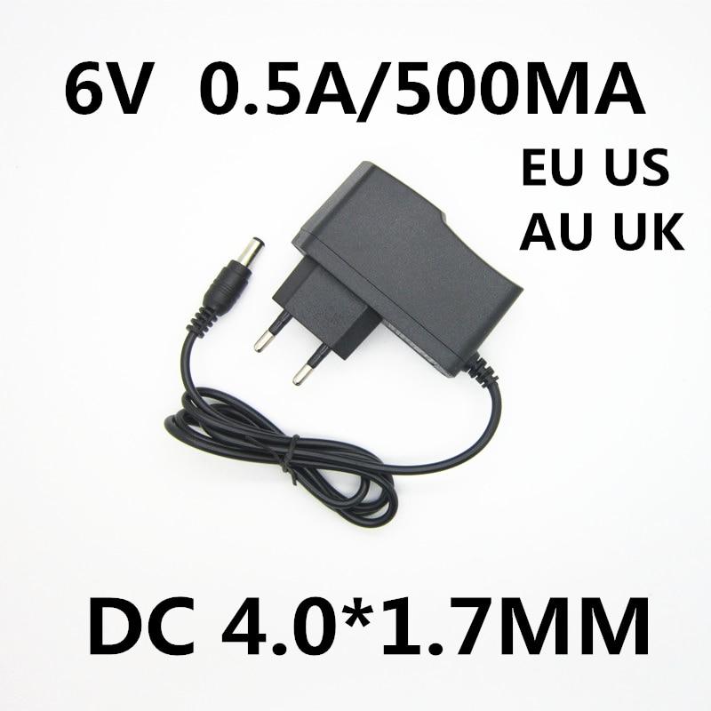 1 Uds 6V 0.5A 500MA AC DC fuente de alimentación del adaptador del cargador para OMRON I-C10 M4-I M2 M3 M5-I M7 M10 M6 M6W Monitor de presión arterial