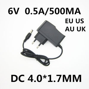 1pcs 6V 0.5A 500MA AC DC Power Supply Adapter Charger For OMRON I-C10 M4-I M2 M3 M5-I M7 M10 M6 M6W Blood Pressure Monitor(China)