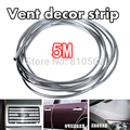 5M U Style DIY Car Interior Air Conditioner Outlet Decoration Strip Vent Grille Chrome Decor Strip Silver Car Accessories Tool