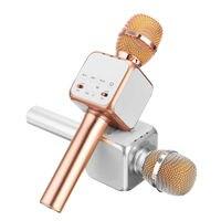 Portable FashionKTV Home Bluetooth Wireless Condenser Magic Karaoke Microphone Mobile Phone Player MIC Music Speaker Record