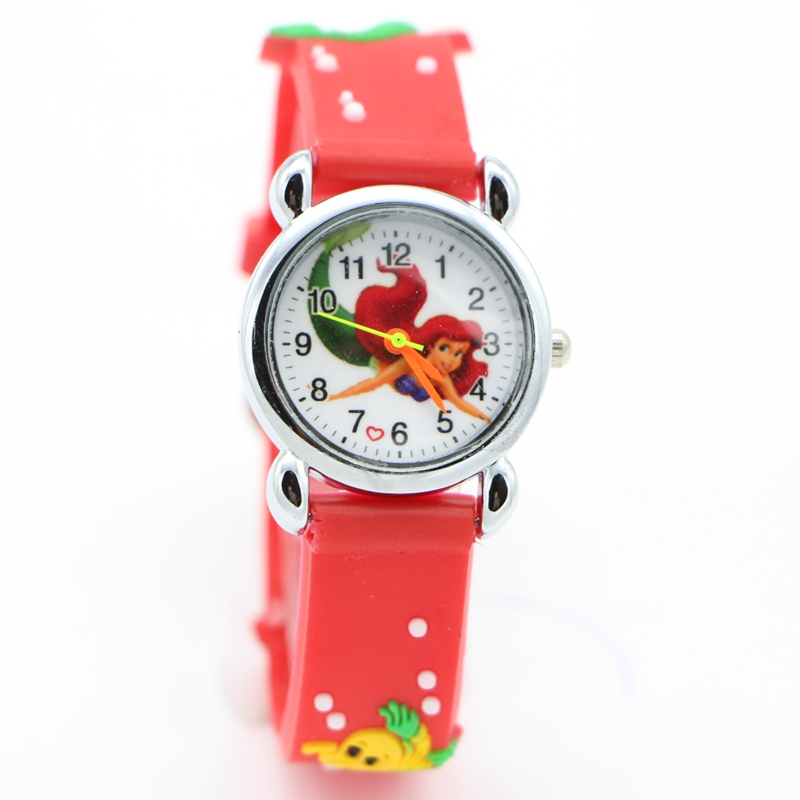 New Arrival  Wholesale The Little Mermaid Popular 3D Watches Children's Kids Watch Christmas Gifts Relogios Feminino Watchwrist