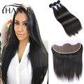 Malaysian Virgin Hair 13x4 Lace Frontal Closure 8A Straight Hair Bundles With Lace Frontal Virgin Hair With Lace Frontal Closure
