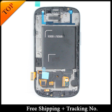 Free Shipping Tracking No. 100% tested For Samsung S3 neo I9300i LCD Display i9301 LCD Screen Touch Digitizer Assembly frame