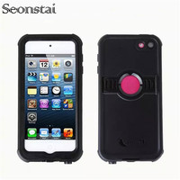 For Touch6 Waterproof Cover Shockproof Dirtproof PC TPU Stand Holder Case For Apple IPod Touch