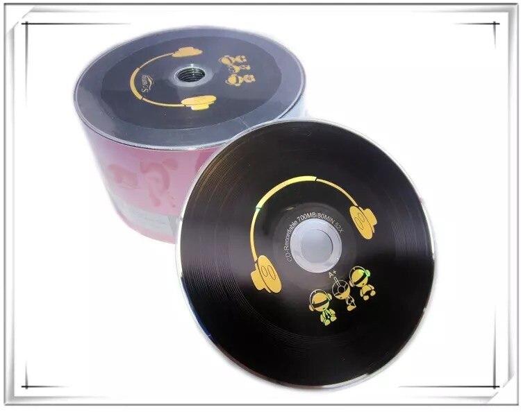 10 discs Grade A 700 MB Blank DJ Headphones Printed CD-R Disc