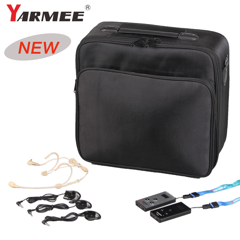 YARMEE Whisper Audio System For The Museum VHF Frequency Radio Guide System Strong Anti interference For 2T And 30R YT200