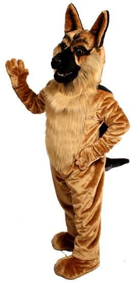 Mascot German Shepard Dog Mascot Costume Cartoon Character Carnival