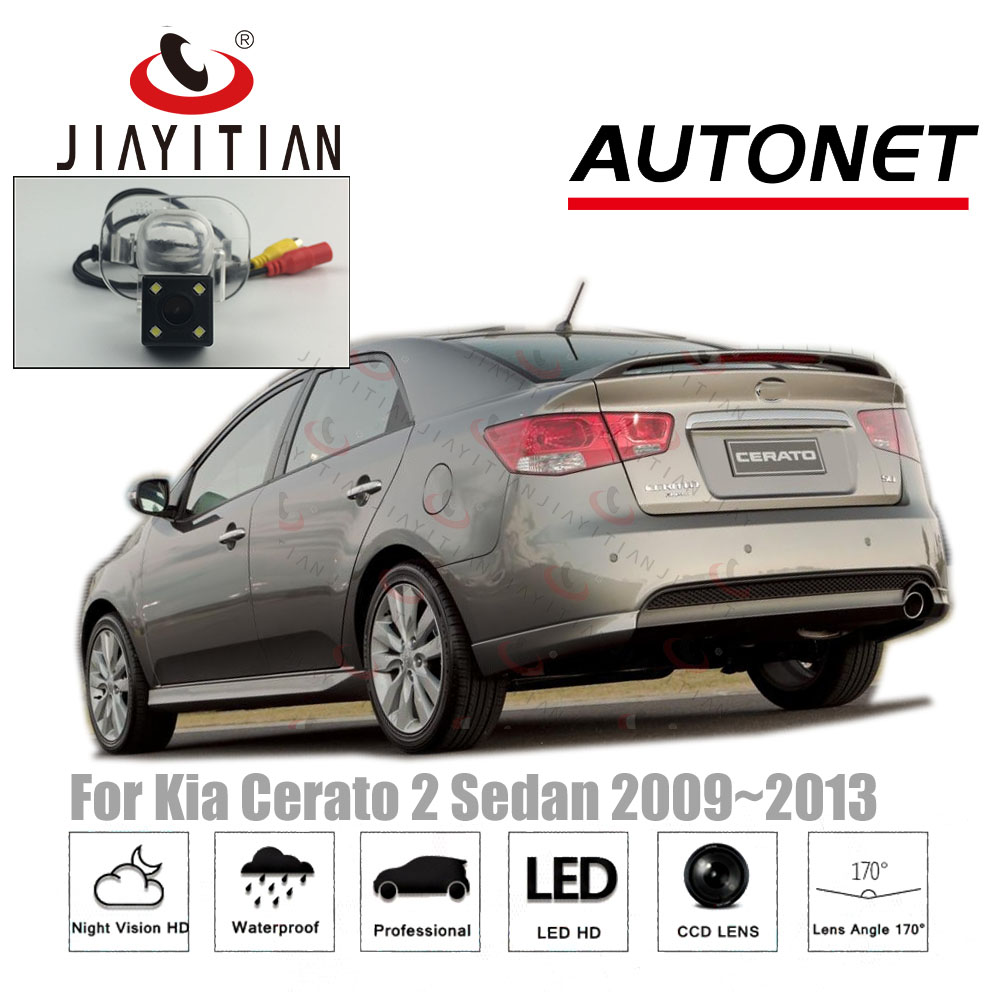 JIAYITIAN RearView Camera For Kia Cerato 2 Sedan 2009 2010 2011 2012 2013 CCD Night Vision Reverse camera license plate camera цены