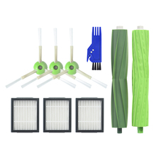 1 Set Multi Surface Brush 3 Side High Efficiency Filters For Irobot Roomba I7 I7+ Plus E5 E6 E7 Series - Vacuum Cle