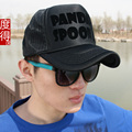 Wholesale adult outdoor casual trucker hats women and men summer hiphop Panda printed mesh baseball caps