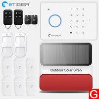 eTiger S3b GSM Alarm System home alarm Kit with PIR motion sensor Wireless Smoke Detector