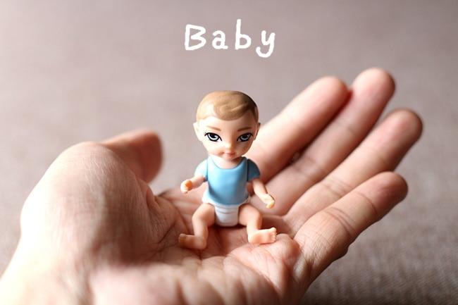 5pcs/  A Lot 4.5cm Plastic Mini Pocket Cute Doll Desk Decoration  052101