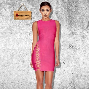 2017 summer hollow out sexy vintage club wear bdoycon Bandage Dress evening party Dresses women special occasion vestidos