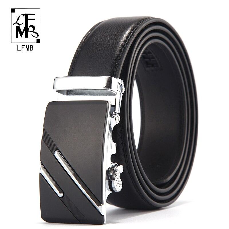 [LFMB] Famosa Cintura di Marca Degli Uomini di Alta Qualità di Lusso Genuino Cinture In Pelle per Gli Uomini, cinghia Maschio della cinghia Fibbia In Metallo Automatico
