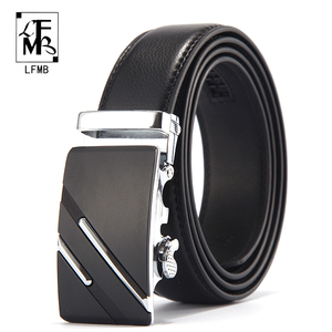 [LFMB]Famous Brand Belt Men Top Quality Genuine Luxury Leather Belts for Men,Strap Male Metal Automatic Buckle(China)