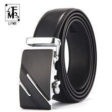 [LFMB] מפורסם מותג חגורת גברים למעלה איכות אמיתי יוקרה עור חגורות לגברים, רצועת זכר מתכת אוטומטי אבזם