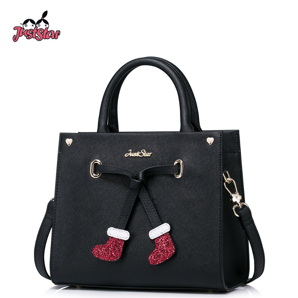 Just Star Women Pu Leather Handbags Las Christmas Socks Tote Purse S Crossbody Bags Female Flap Messenger Jz4223 In Top Handle From