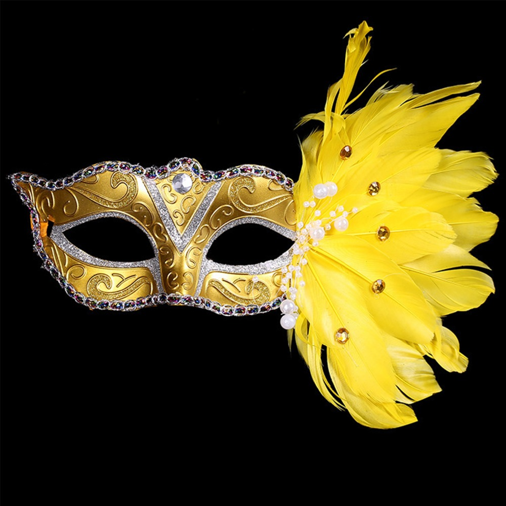 1pcs Sexy Face Mask Costume Carnival Party Masquerade Feathers ...