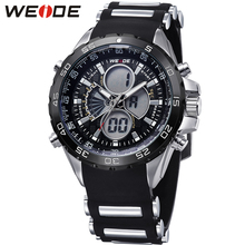 купить Fashion Top Brand WEIDE Military Sport Watch Men Digital Quartz Black LED Silicone Band Waterproof Man Wristwatches Montre Homme онлайн