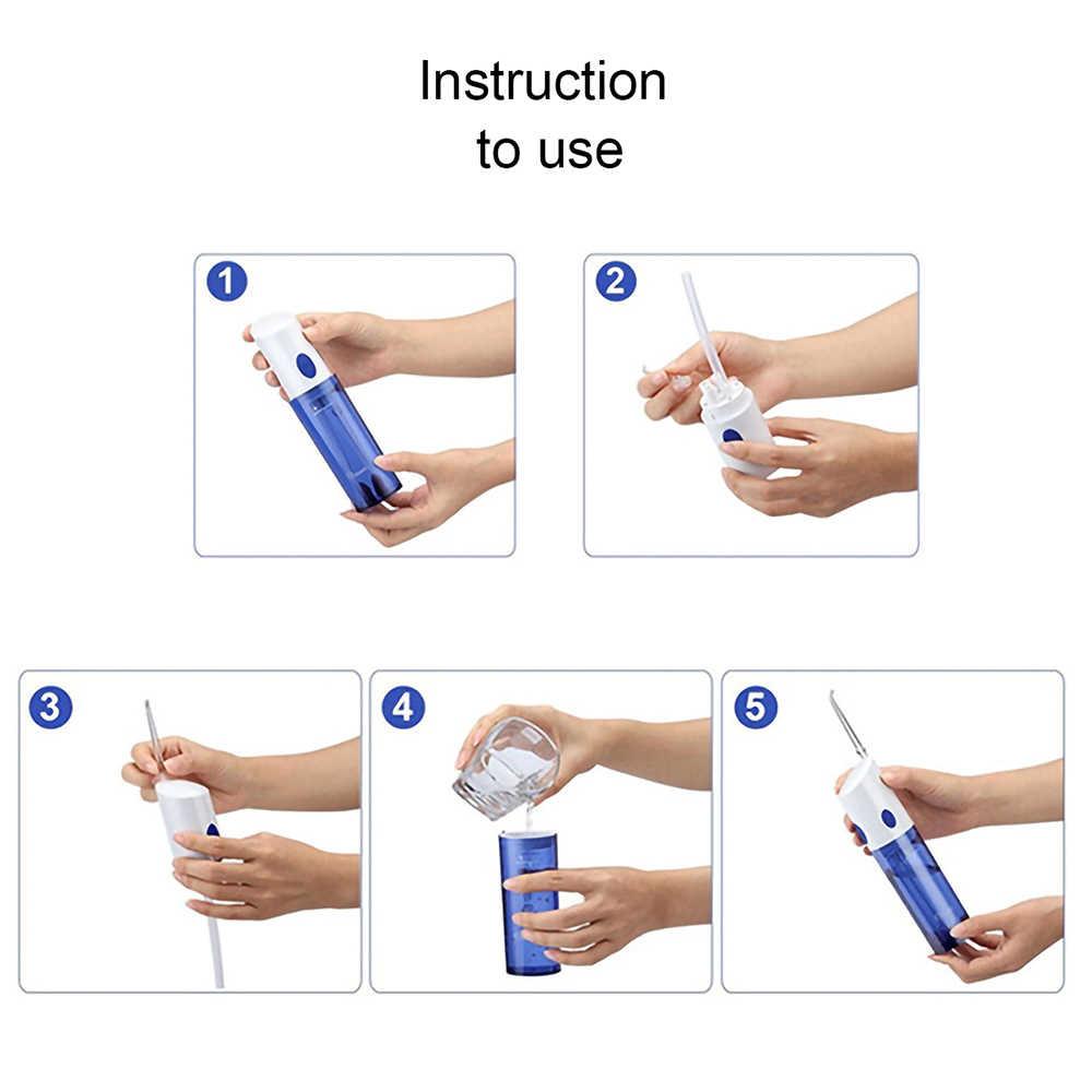 Tackore Portable Flosser Gigi Air Electric Irrigator Oral Isi Ulang Tahan Air Gigi Gigi Mulut Cleaner