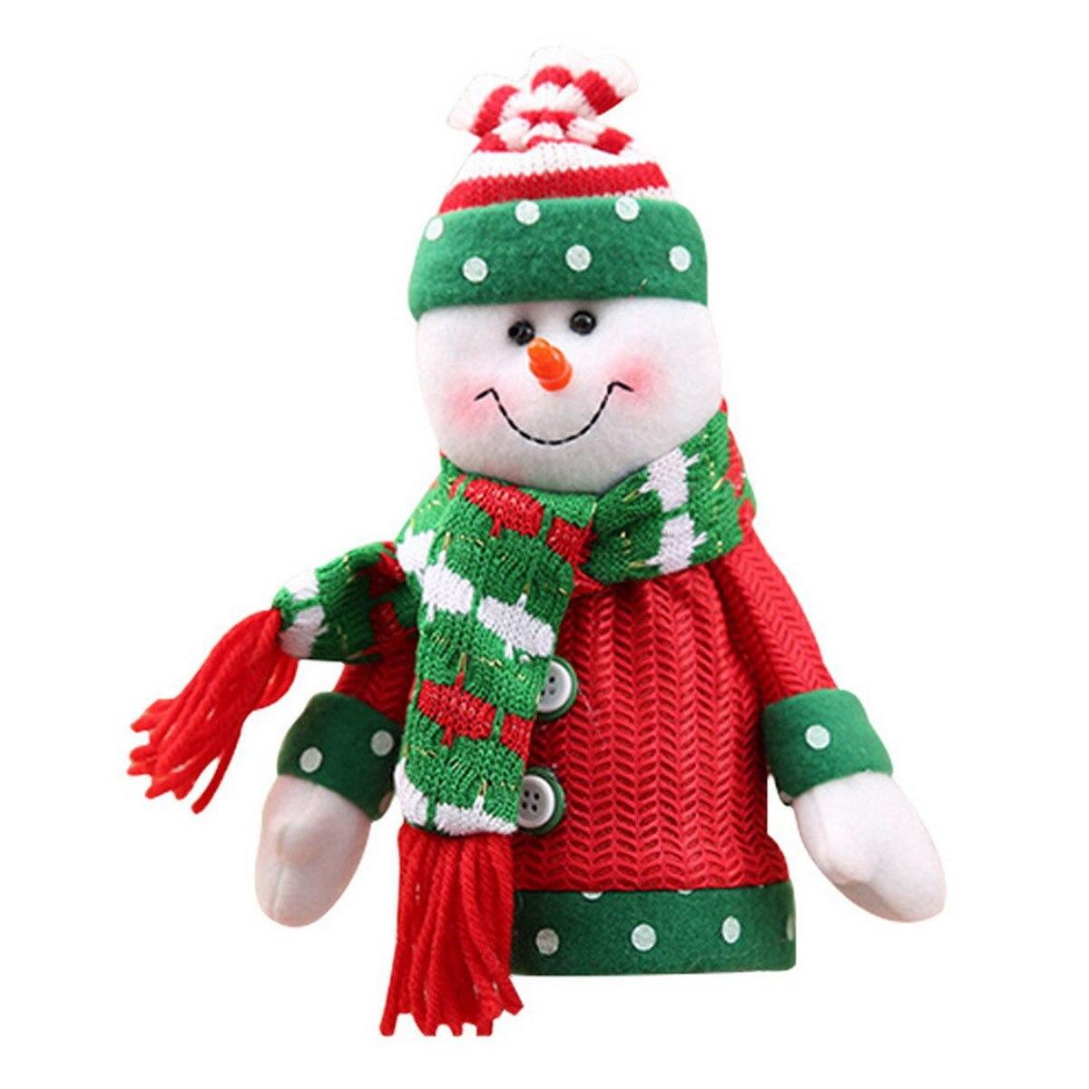 Christmas wine bottle decoration bag christmas party mood table decoration Christmas snowman