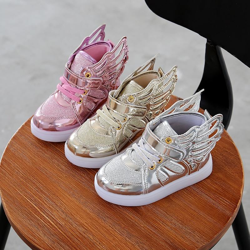 Children Baby Luminous Shoes Boys Girls Flying Wing Light ...