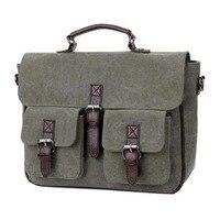 2017 Hot Sale Brand Men S Canvas Bag Handbags Messenger Retro Briefcase Brand Crossbody Shoulder For