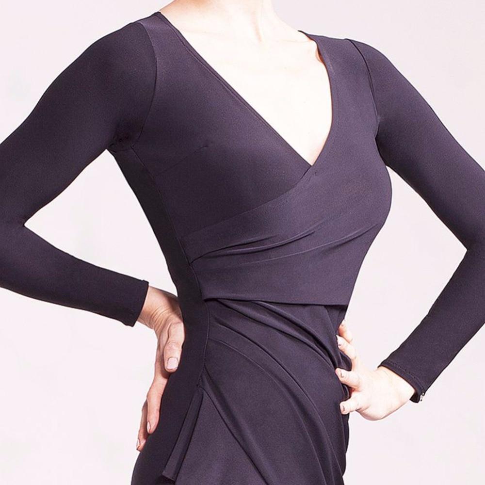 Color agradable Latino danza Vestidos para damas negro color más ...
