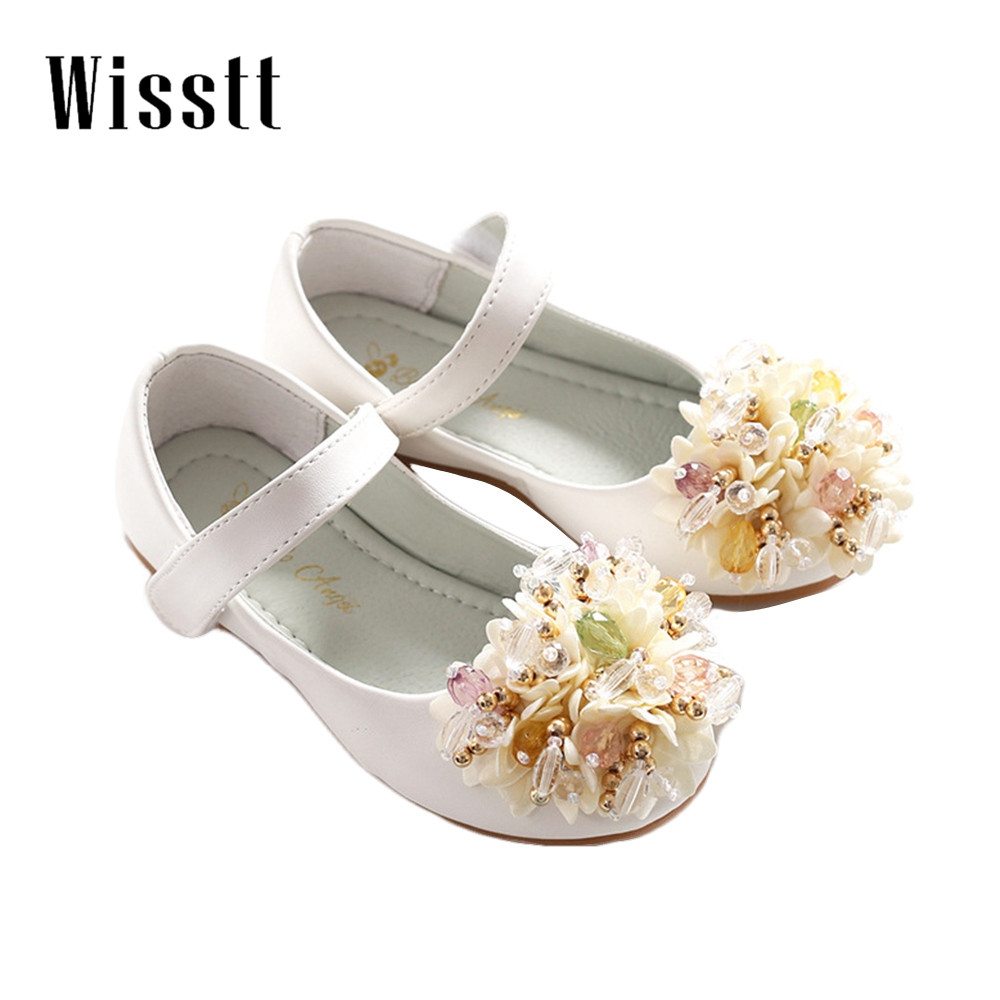2017 Fashion Sweety Girls Shoes,Lovely Flower Bow Children Sandals,High Quality Princess Kids Shoes,Dancing Shoes