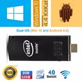 2017 Mini PC Ультра Тонкий Windows 10 Mini PC Intel Компьютер TV Stick Intel Atom Z3735F Quad Core Bluetooth 4.0 2 ГБ/32 ГБ Computado