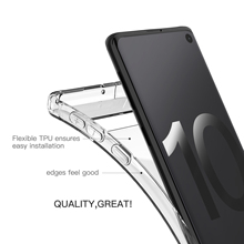 Lantro Phone Case for Samsung S10plus Black and Transparent Color TPU Only